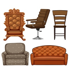 Different design of chairs vector image