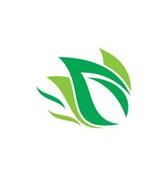 eco leaf nature logo image vector image vector image