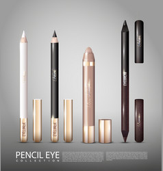 Fashionable cosmetic products for eyes set vector