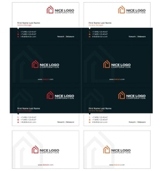 House logo business card 1 vector