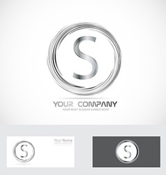 Letter S logo silver vector image