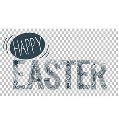 linear style easter vector image vector image