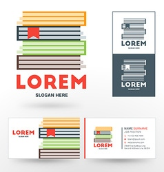 Logo Template Stack of Books Logo for Bookshop or vector image