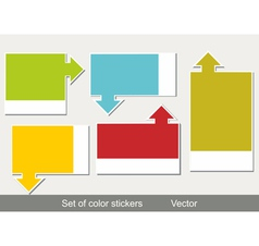 Multi-colored realistic stickers vector image vector image