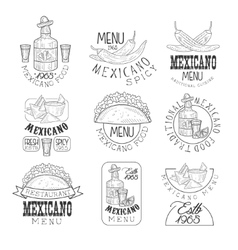 National Traditional Mexican Cuisine Restaurant vector image