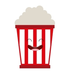 Pop corn character cute icon vector