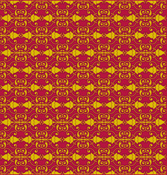red flower decorative pattern backdrop vector image vector image