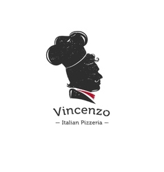 retro logo for Italian restaurant Cook vector image