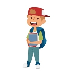 School kid primary education character vector