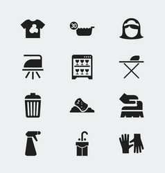 set of 12 editable cleanup icons includes symbols vector image vector image