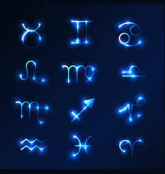 Set zodiac sign set zodiac sign vector
