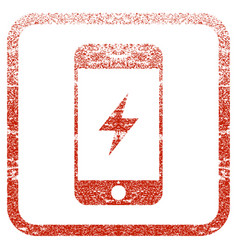 Smartphone electricity framed textured icon vector