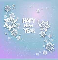 Snowflakes holiday background 03 vector