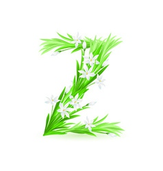 spring flowers alphabet z vector image vector image