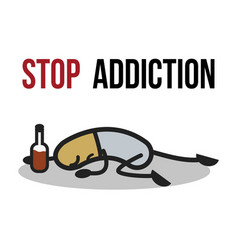 Stop addiction alcohol conceptual vector