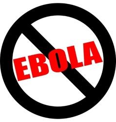 Stop ebola hand leader in black vector image vector image
