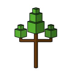 Tree plant isometric icon vector
