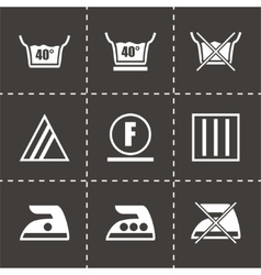 Washing signs icon set vector image