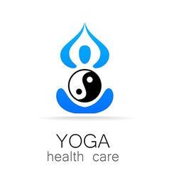 yoga health care vector image