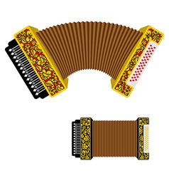 Russian accordion musical instrument harmonic vector