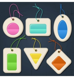 Set of color bubbles stickers labels tags vector