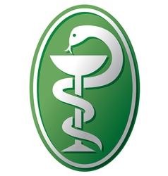 snake-medical symbol vector image