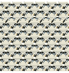 Stacked cows pattern vector
