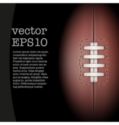 Dark Background of rugby ball vector image