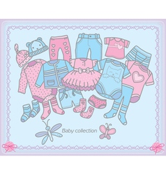 Baby clothing collection vector