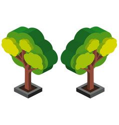 3d design for green tree vector image