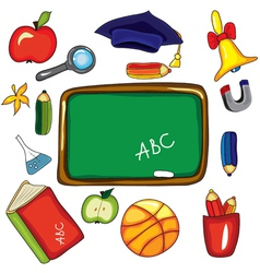 school elements vector image