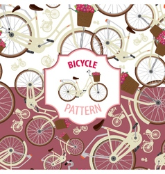 Pattern bicycle set number 2 vector