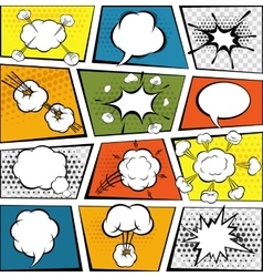 Comic speech bubbles set vector