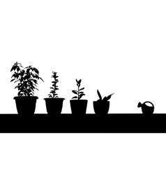 Gardening contour vector