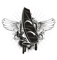 grunge summer emblem vector image