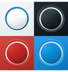 Colorful 3d buttons vector