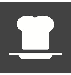 Chef hat and plate vector