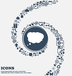 Cloud sign icon data storage symbol in the center vector