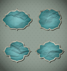 Blue crumpled frames vector