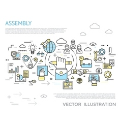 Assembly horizontal concept vector