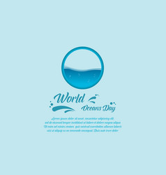 banner style for world ocean day vector image