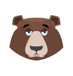 bear sad emoji grizzly melancholy emotion face vector image vector image