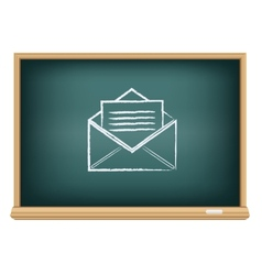 board post a letter vector image vector image
