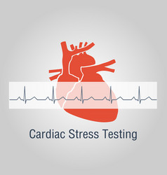 cardiac stress testing logo icon design vector image