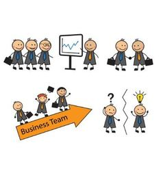 Cartoon set of business situations with people vector image
