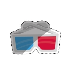 Cinema 3d glasses vector image vector image