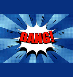 comic bang wording template vector image vector image