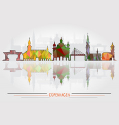 copenhagen city background vector image