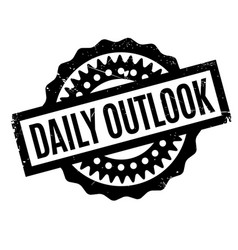 Daily outlook rubber stamp vector