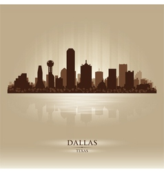 Dallas Texas skyline city silhouette vector image vector image